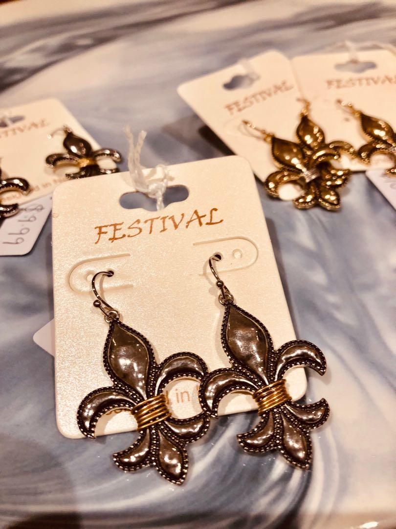 Ladies Silver/Gold/Black Earrings(Free With Purchases $20 or More)