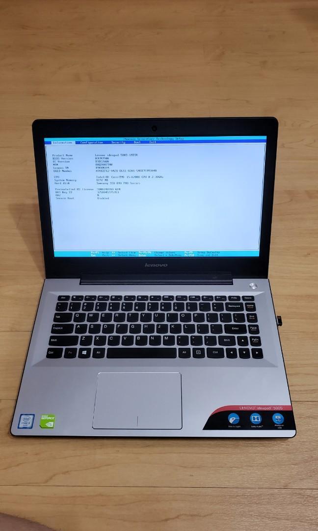 Lenovo ideapad 500S i5 128GB samsung 840 PRO SSD