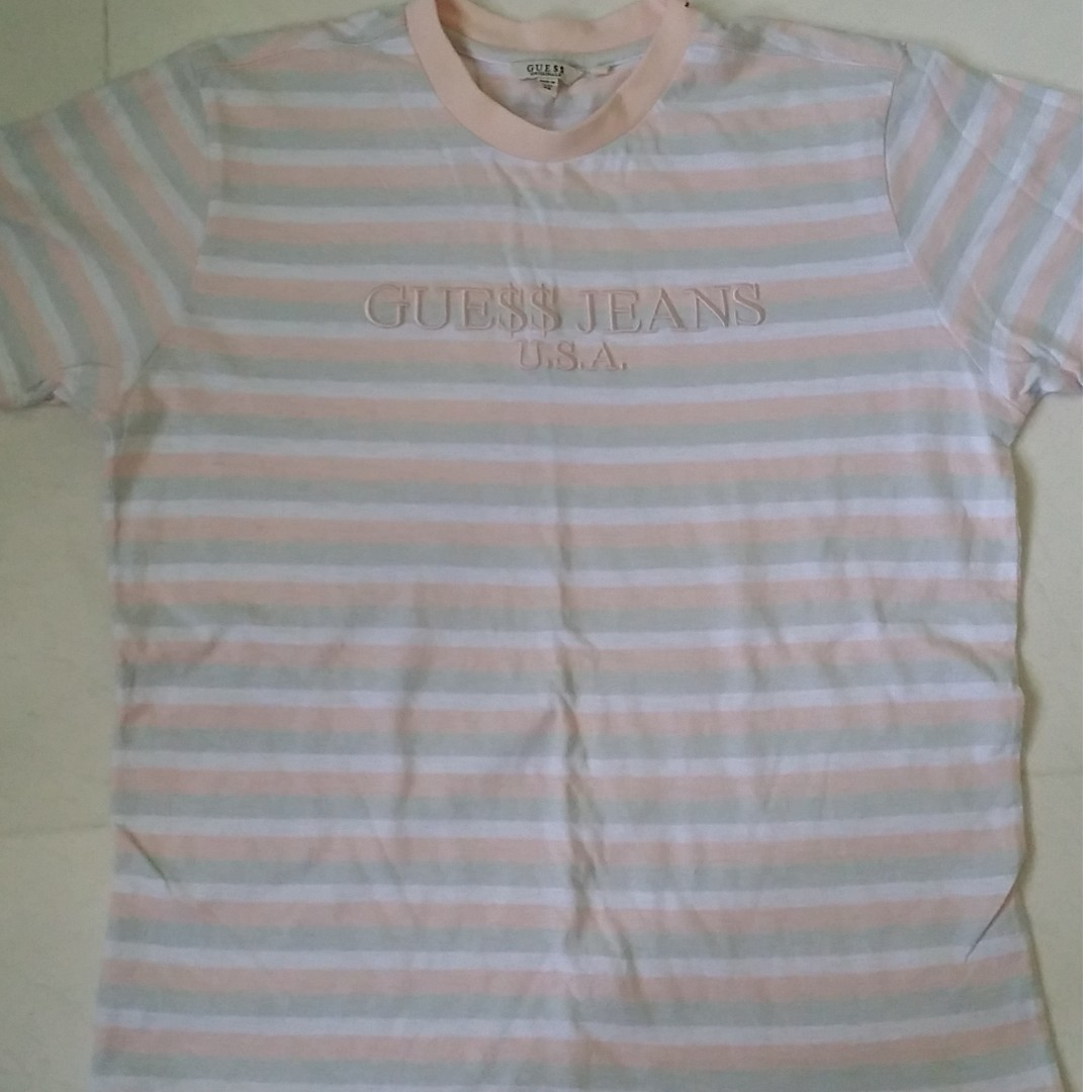 dbb5e27ddf92 Limited Edition Guess X A$AP Rocky Cotton Candy Tee, Men's Fashion,  Clothes, Tops on Carousell