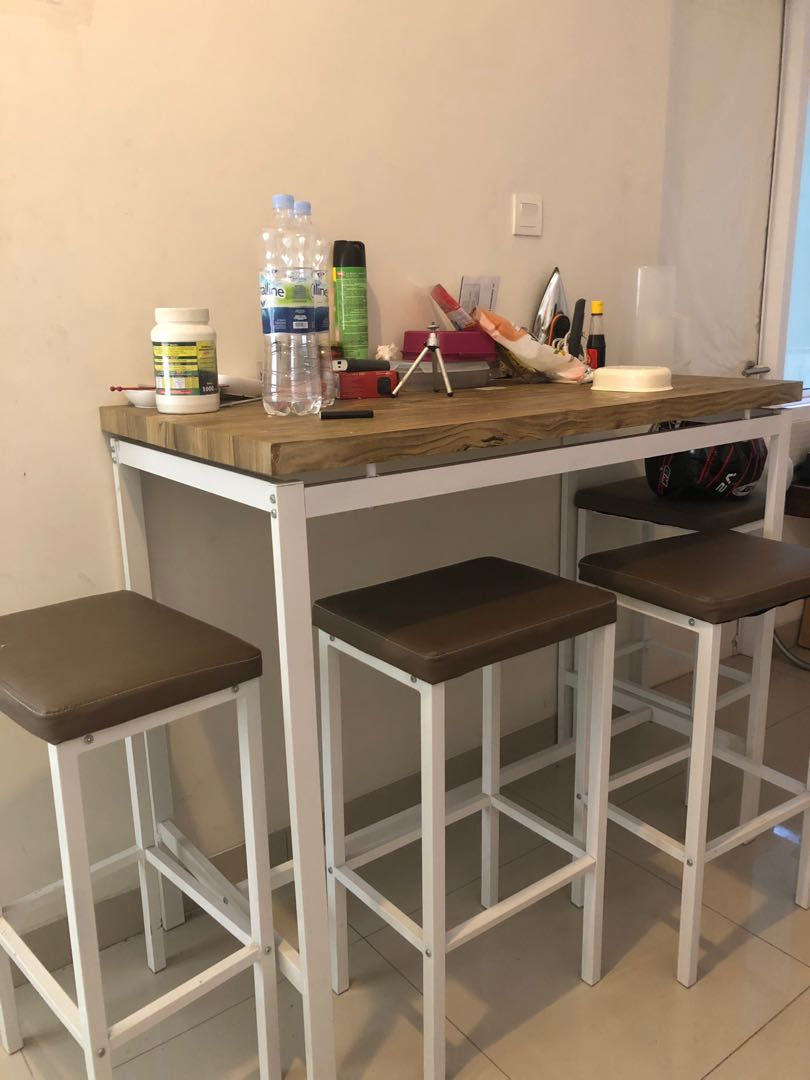 Meja Makan Minimalis Ikea Home Furniture On Carousell