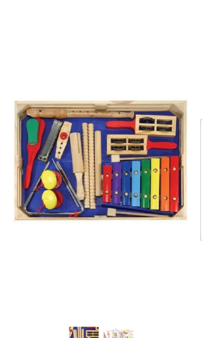 Melissa Doug Deluxe Band Set With Wooden Musical