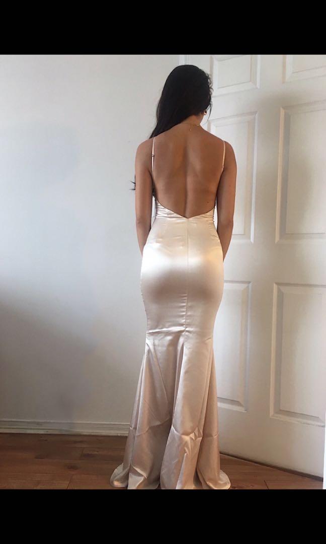 Meshki Luna Satin Maxi Dress - Champagne