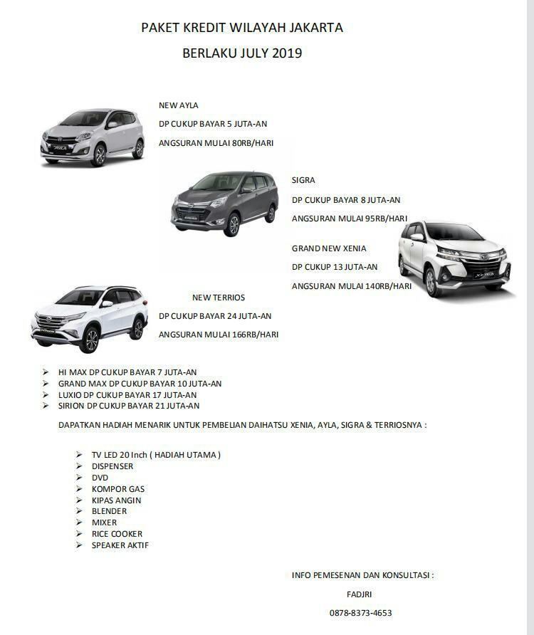 [Mobil Baru] Daihatsu New Ayla DP Cukup Bayar 5 Juta-an