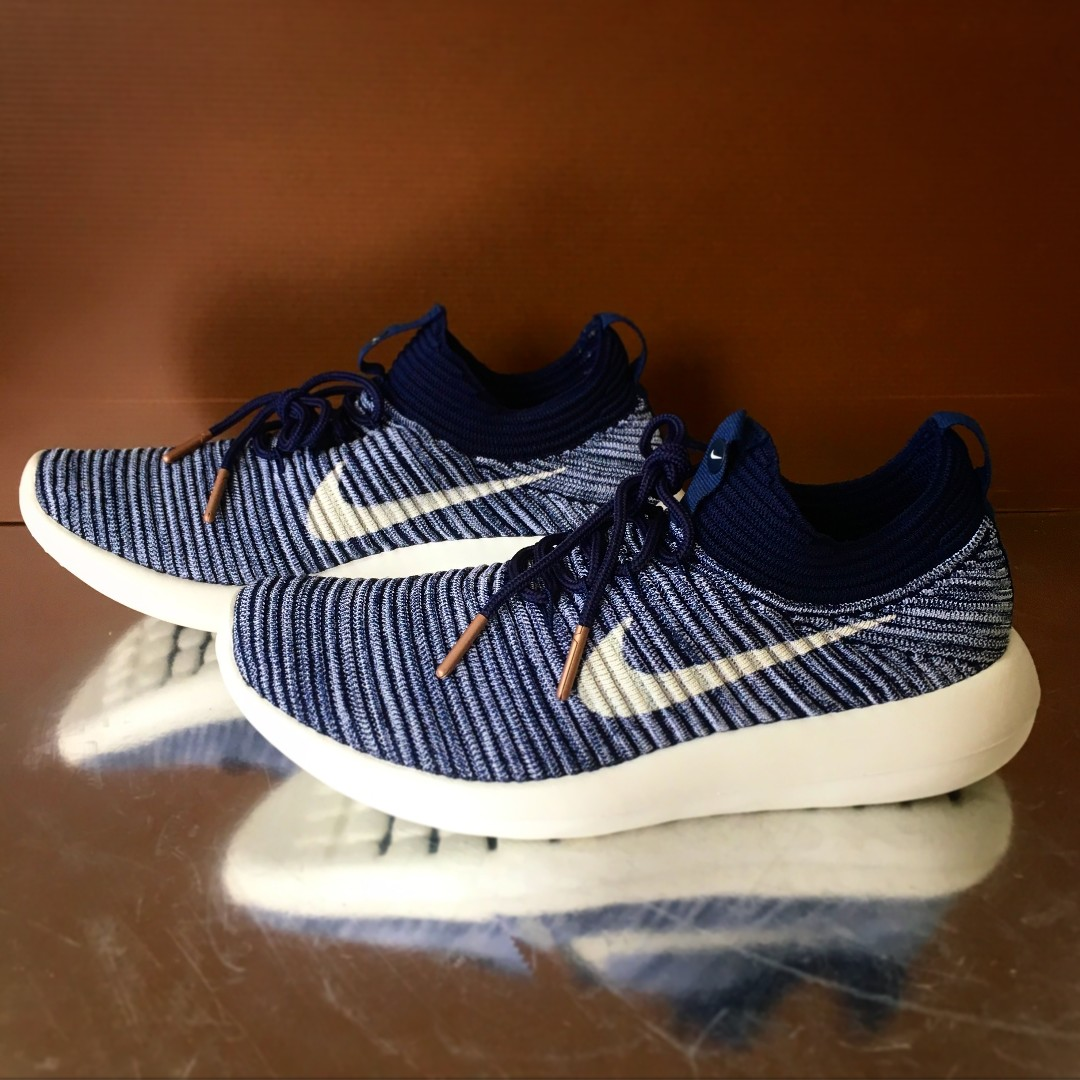 newest 5b36c 949ef Nike Roshe 2 Flyknit V2 Sports Shoes (Blue)