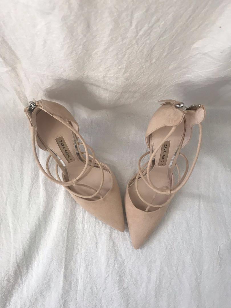 Nude zara heels