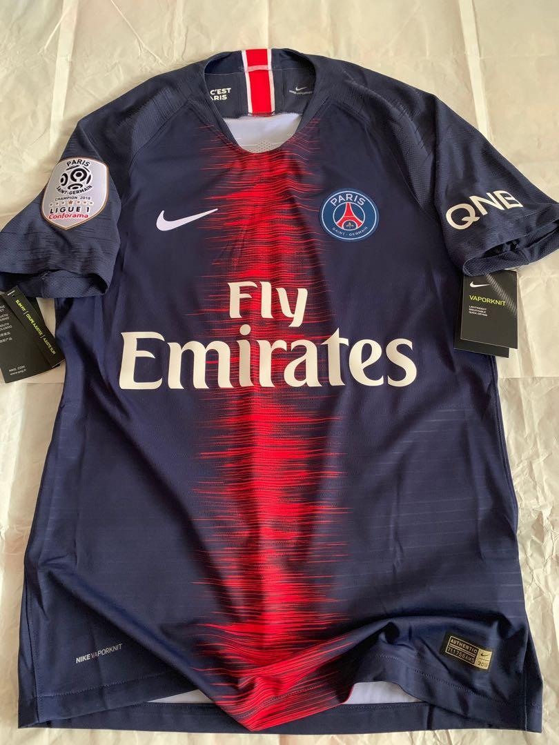 observación Avispón florero  Official Nike Authentic Paris Saint Germain PSG 2018-2019 Home Vapor Match  Player Issue Shirt JUAN BERNAT #14 Jersey French League Ligue 1 kit  version, Sports, Sports Apparel on Carousell