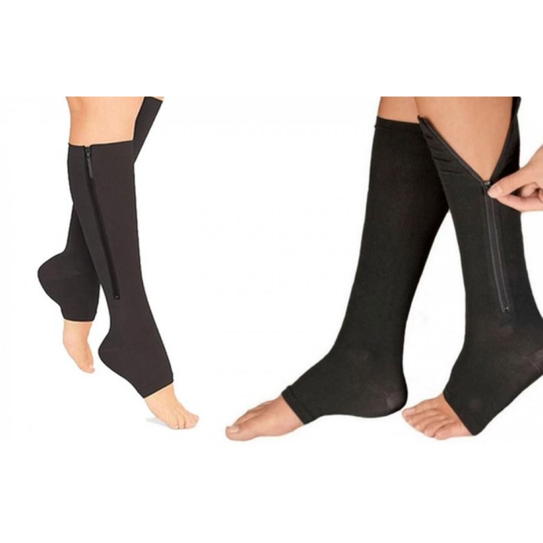 Open Toe Plantar Pain Relief Compression Socks (Size S/M)