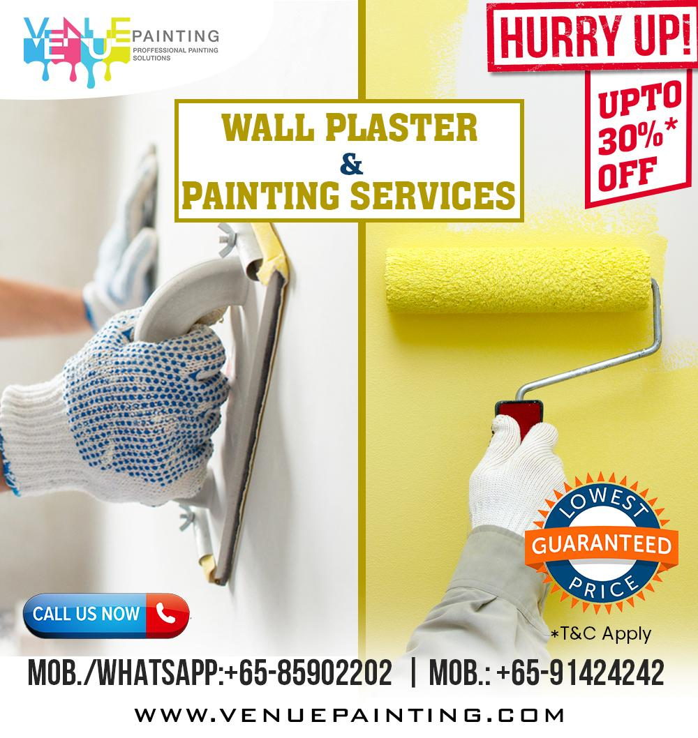 Plaster & Painting Services for All Premises, Lowest Price is Guaranteed, No Hidden Charges