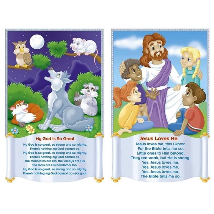 PO] Children's Bible Songs bulletin board set poster