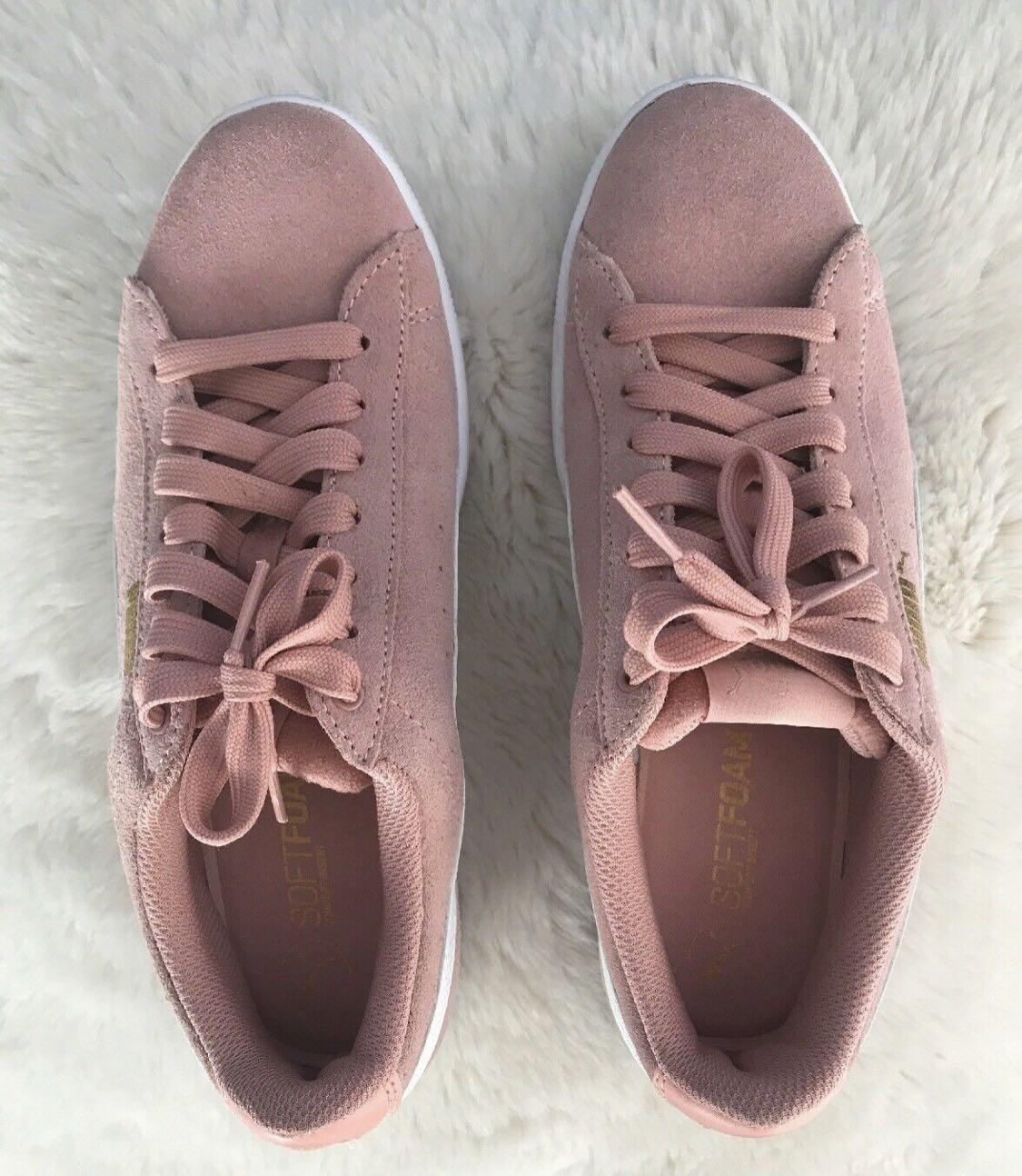 Puma Vikky Classic Pink Suede Sneakers