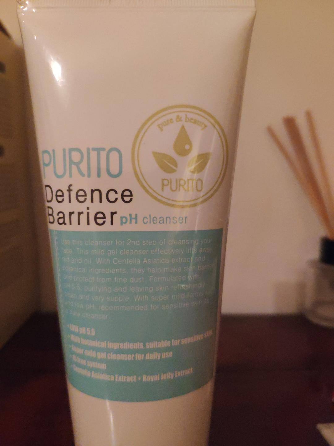 Brand new - Purito - defence barrier ph cleanser 150ml