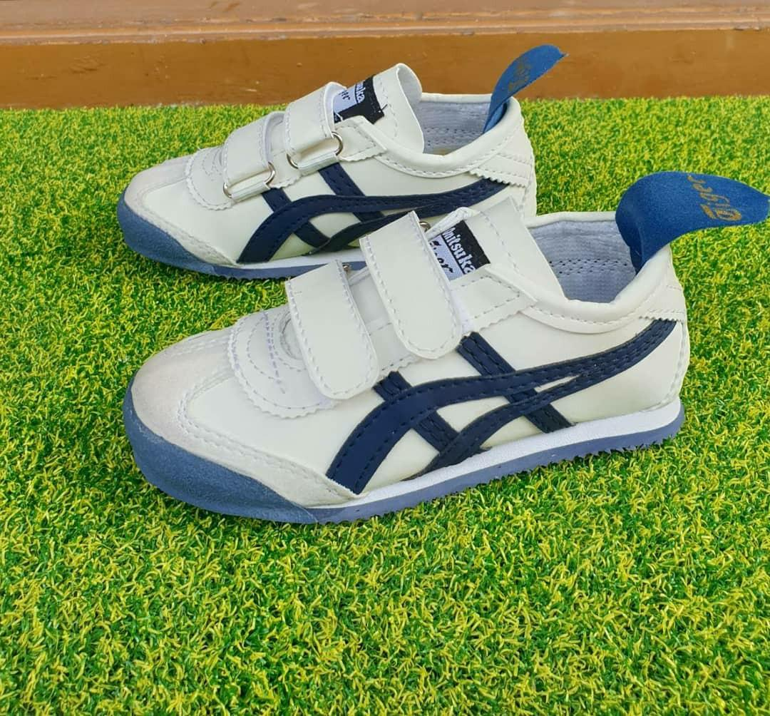 sports shoes 86ca9 c1748 SEPATU ANAK ONITSUKA PUTIH LIST NAVY PREPETAN, Babies & Kids ...