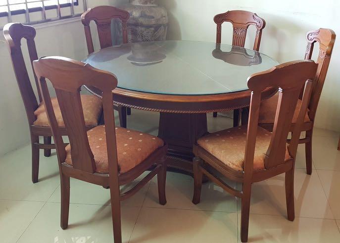 Teakwood Dining Table 6 Seater