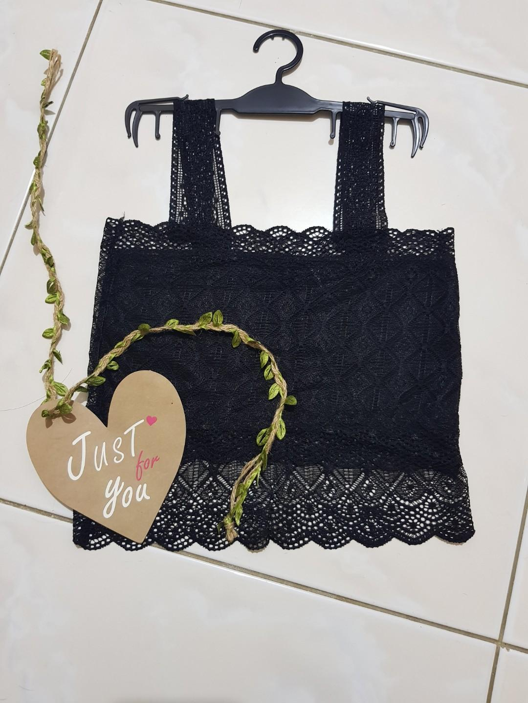 Zara mango black tanktop import