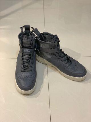 NIKE AIR FORCE 1 SF AF1 MID 鐵灰色 機能 軍裝 高筒 球鞋