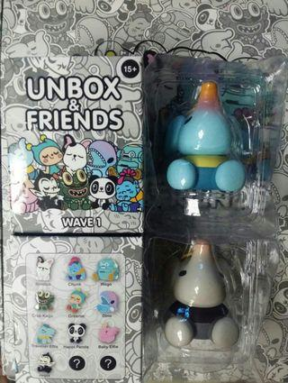Unbox industries Blind Box wave 1 全新 Traveller Eflie @ Too Natthapong 一對連特別色