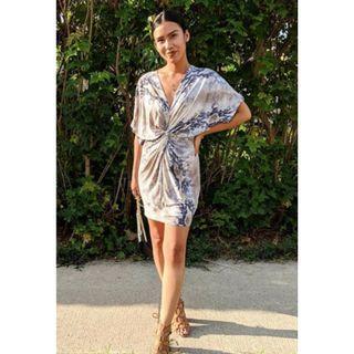M Boutique Knot Front Snakeskin Dress