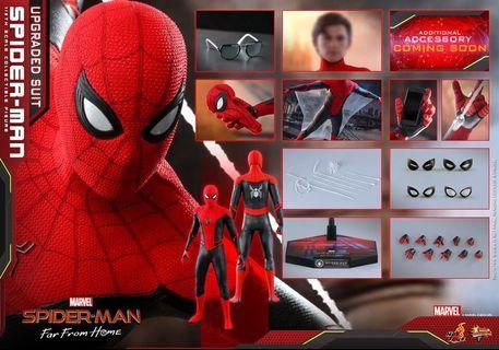 HotToys Marvel 1:6 Spiderman upgrade suit 蜘蛛俠升級戰衣 紅黑