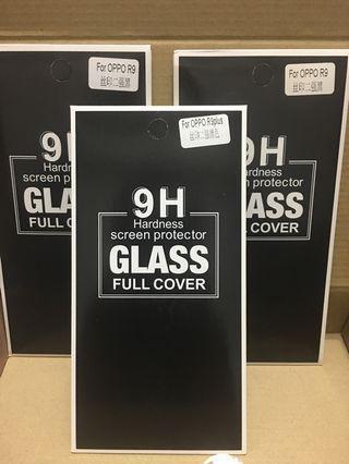 便宜自售OPPO R9跟R9plus(滿版)鋼化玻璃保護貼9H硬度