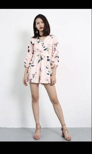 (BRAND NEW) Pink Floral Printed Romper from Style House