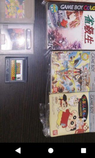 五盒日本gameboy帶,同級生,忍者龍劍傳,送sonic一盒。右上兩盒沒有書