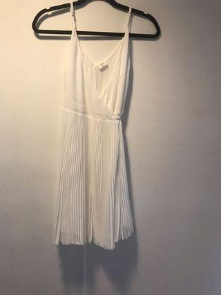 Wilfred Beaune white wrap dress
