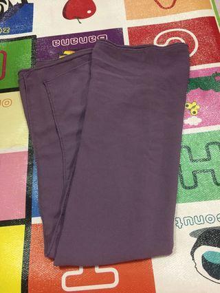 Purple heavy chiffon shawl