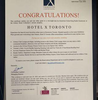 Two night stay for two at Hotel X Toronto