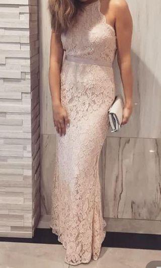 Gown lace blush dress by Honey