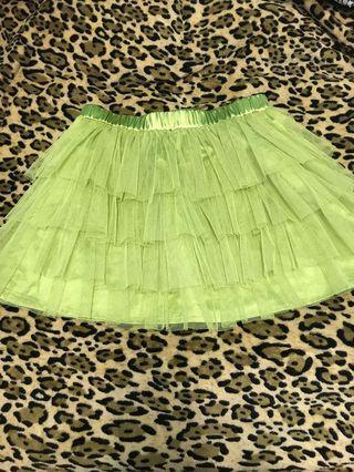 我要返日本了✈️🇯🇵!Forever 21 - yellow Green Skirt (Free Size) Brand New 100%
