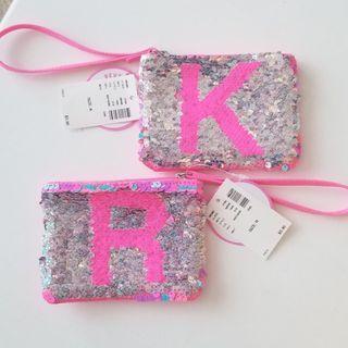 'K' & 'R' Flip Sequin Coin Purse