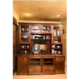 優質緬甸花梨壁櫃