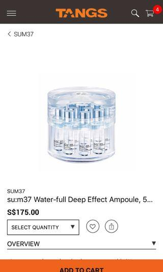 Su:m37 water-full deep effect ampoule