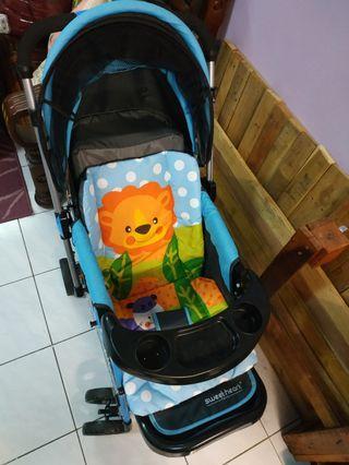 Seldom use sweet heart stroller
