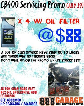 Cb400/ Super4 Servicing Promo