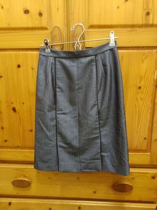 灰色 細條紋 窄裙