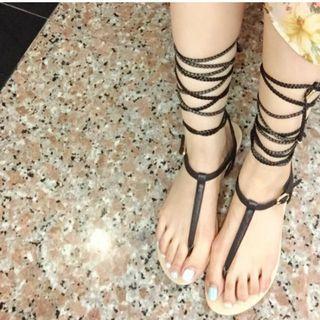 ALDO 希臘女神編織T字涼鞋