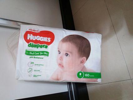 全新未開封Huggies 親膚尿片 細碼 s碼60片