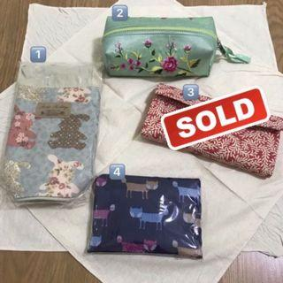 🚚 Bottle bag / make up bag / recycled bag