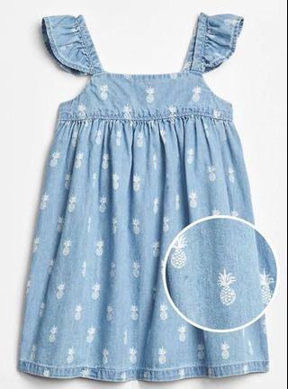 GAP girl dress - Denim Blue
