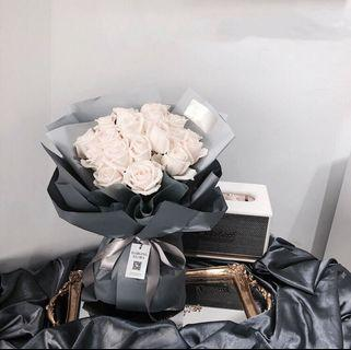 Luxury White rose bouquet | Special love