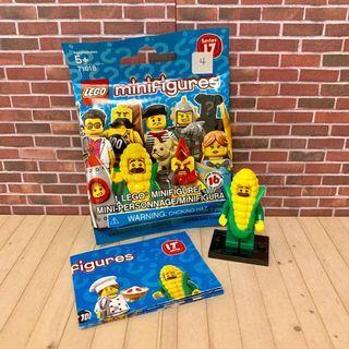 (全新)正版 樂高 LEGO 人偶 第17代 4號 玉米人 玉米大叔 71018 公仔 盲包