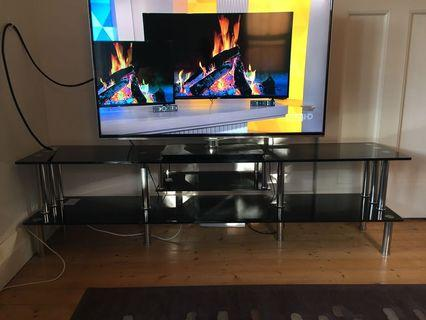 Tempered glass entertainment unit