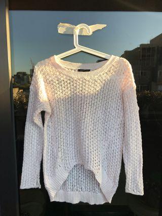 Baby Pink Net Sweater