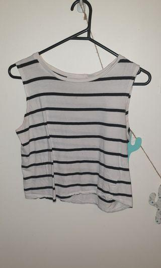Black and White stripped top size S/8