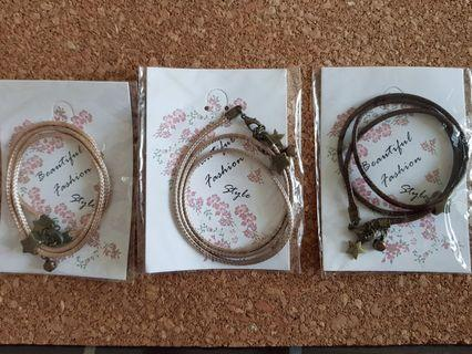 3 handmade bracelets