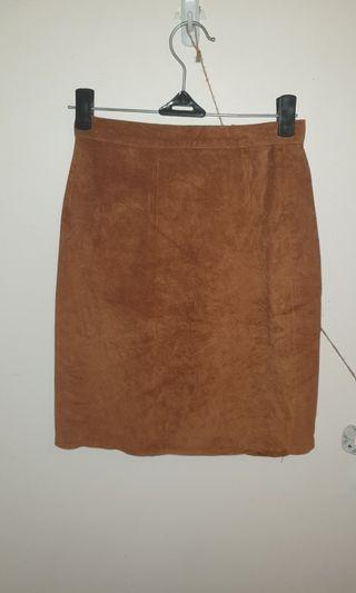 Brown Leather Skirt size 6/small 8