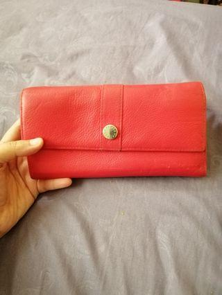 Furla leather purse with box and dust bag
