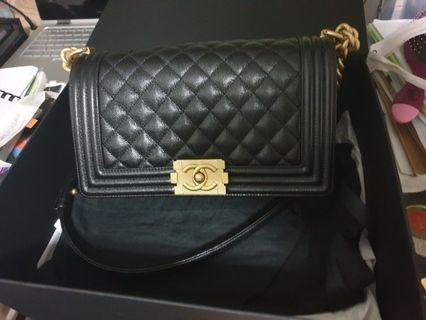 🚚 BNIB CHANEL BOY with GOLD CHAIN for sale