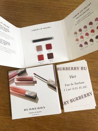 📮BURBERRY Liquid Lip Velvet Tester x2 & HER perfume Tester x1